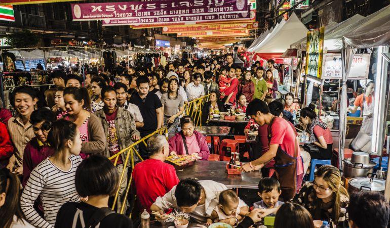 mercado bangkok tailandia